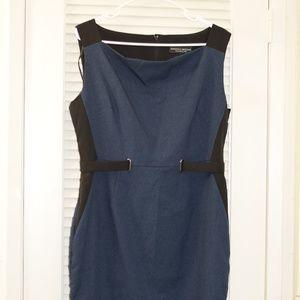 NWOT Dorothy Perkins Blue and Black Work Dress
